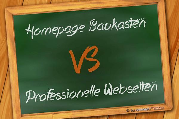 Homepage Baukasten vs. Professionelle Webseiten